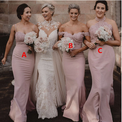 [ Callia ] Lace Bridesmaid Dress Queen Prom Dress Evening dress