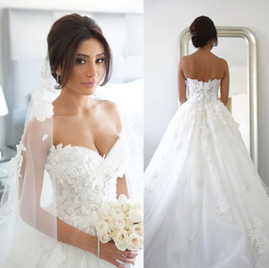 [ Abigail ] Sweetheart Wedding Dress Classic Ballgown