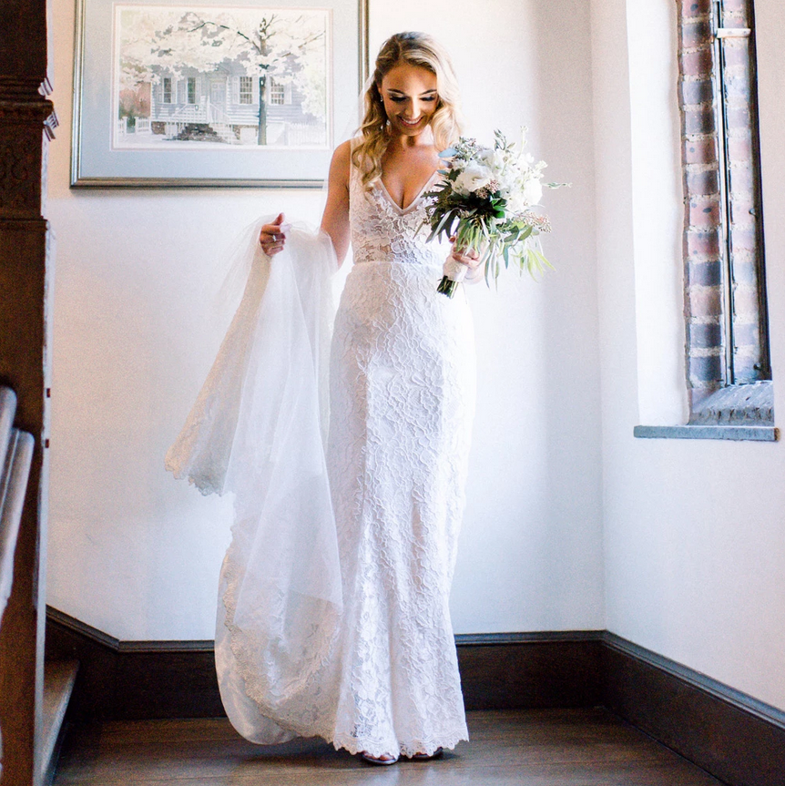 [ Arlene ] Vintage Lace Wedding Dress Custom Made