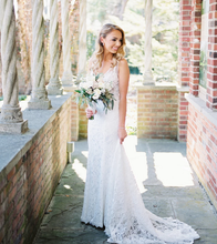 Load image into Gallery viewer, [ Arlene ] Vintage Lace Wedding Dress Custom Made