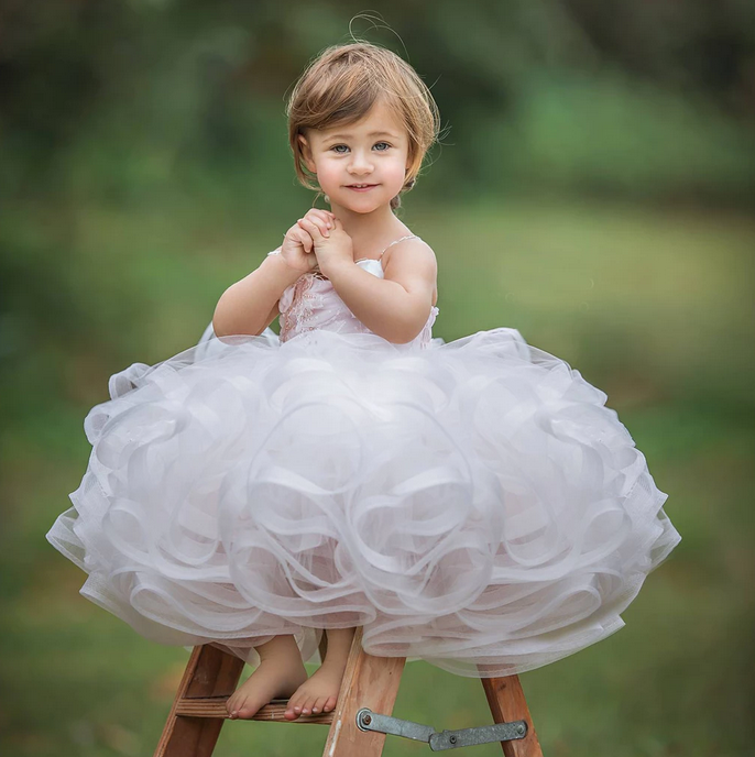 [Little Lucy]Tutu Dress Flower Girl Dress Prom Dress Birthday Party Dress