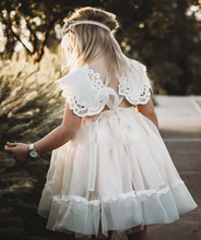 Load image into Gallery viewer, [Little Gill]Illusion Lace Tie-Back Halter Flower Girl Dress