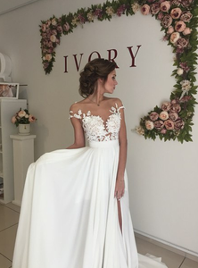 [ Alva ] Vintage Lace Wedding Dress Custom Made