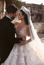 Load image into Gallery viewer, [ Annabelle ] Luxury handmade Wedding Dress Custom Made