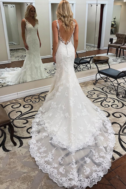 [ Deirdre ] Vintage Lace Mermaid Wedding Dress Custom Made