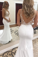 Load image into Gallery viewer, [ Lauren ] V Neck BOHO Mermaid Wedding Dress Tailor-Made Gown