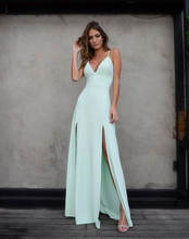 Load image into Gallery viewer, [ Mamie ]Spaghetti Straps Deep-V Neckline Prom Dress Evening Dress Bridesmaid Dresses