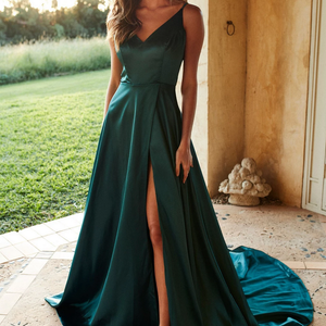 [ Jennifer ] V neck Prom Dress Evening Dress Bridesmaid Dresses