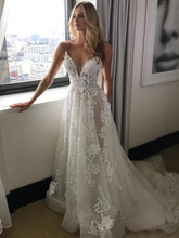 Load image into Gallery viewer, [ Astrid ]Lace Applique Wedding Dress Lace Bridal Gown