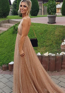 [ Custom Order ] Champagne Rose Women Formal Evening Party Gown Prom Dress