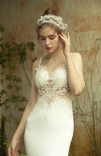 Load image into Gallery viewer, [ Ann ] Vintage Lace Applique Wedding Dress Custom Made