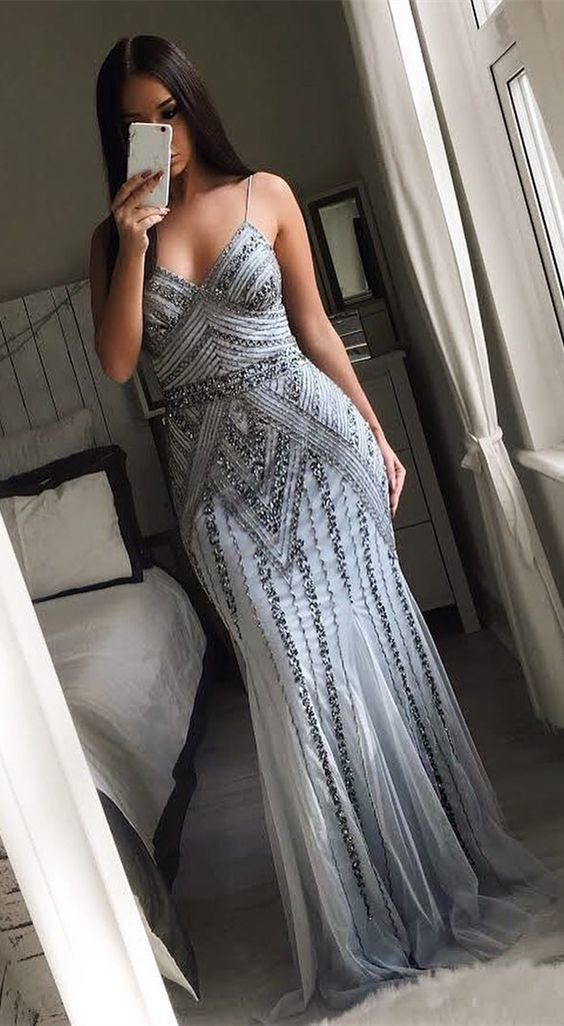 [ Rosalia ] Sexy Women Mermaid Formal Evening Party Gown Prom Dress