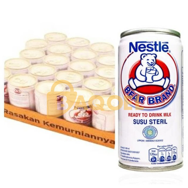 Bearbrand RTD Milk Tin 189 ml, 1 karton isi 30 kaleng