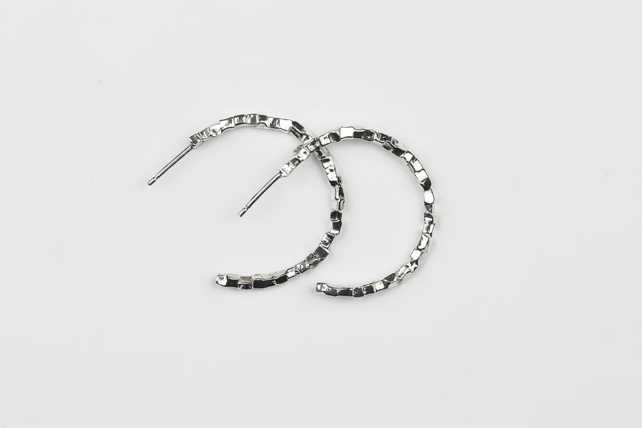 Dice Hoop Earrings