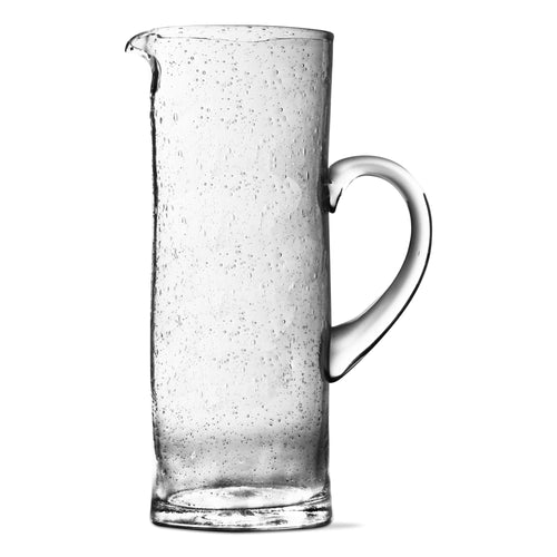 bubble glass tall pitcher
