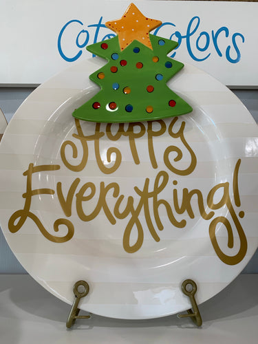 White Stripe Happy Everything Platter