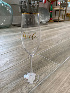 Husband & Wife Champagne glasses