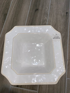 Square Luxury Melamine - White