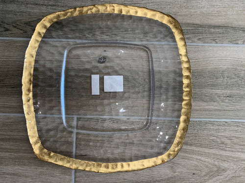 TRS - Textured Glass Plate - Clear/Gold
