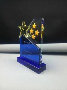 WCT-24 5 Stars design Crystal Award Trophy - winningway