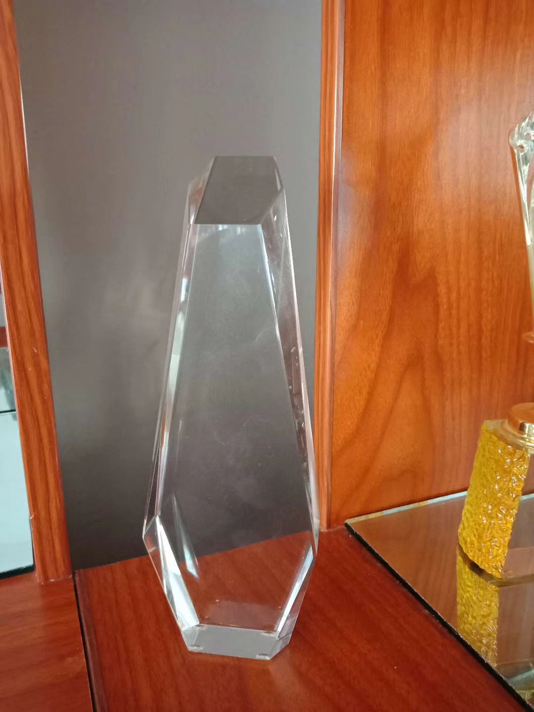 WCT-29 Stone Block Design Award Trophy Crystal - winningway