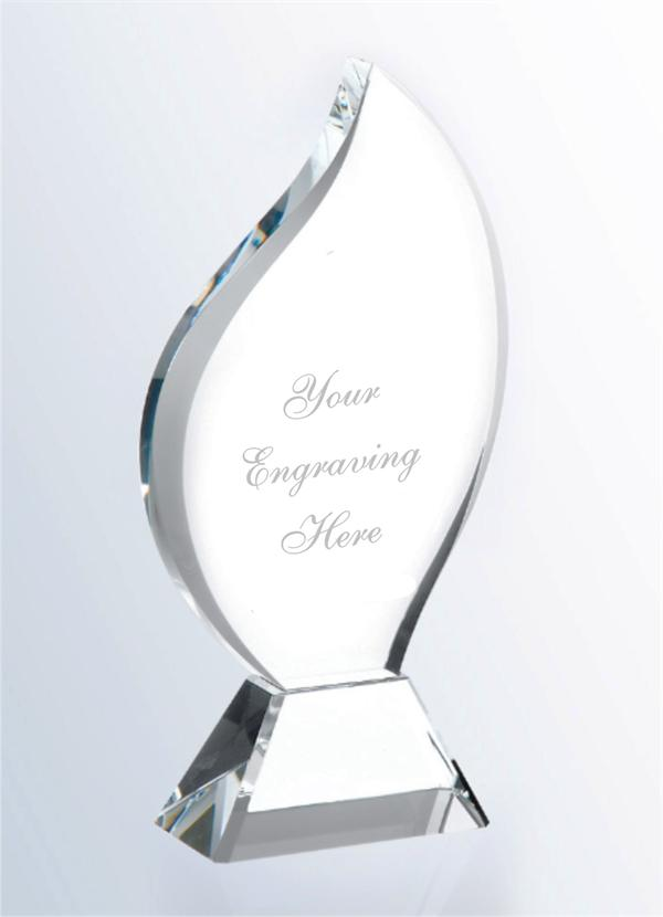 WCT-06 Crystal Award Flame Design Plaque - winningway