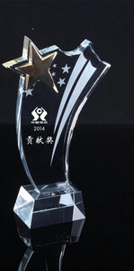 WCT-16 Shooting Star Trophy Award Crystal - winningway
