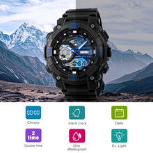 Load image into Gallery viewer, Outdoor Sports Watches Men Electronic Quartz Digital Watch 50M Waterproof - winningway
