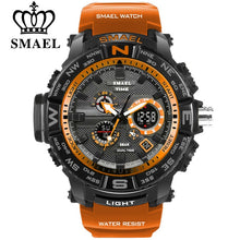 Load image into Gallery viewer, men sport watches SMAEL brand dual display watch men LED digital analog electronic quartz watches 30M waterproof male clock - Free + Shipping - winningway
