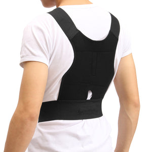 New Men Women Adjustable Magnetic Posture Corrector Belt Braces Support Body Back Corrector Shoulder Belt - winningway