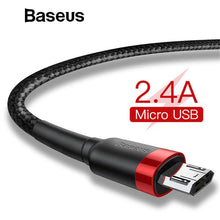 Load image into Gallery viewer, Baseus 1m 2m Micro USB Cable for Xiaomi Redmi Note 5 Pro 4 Reversible Micro USB Charger Data Cable for Samsung S7 Mobile Phone - winningway