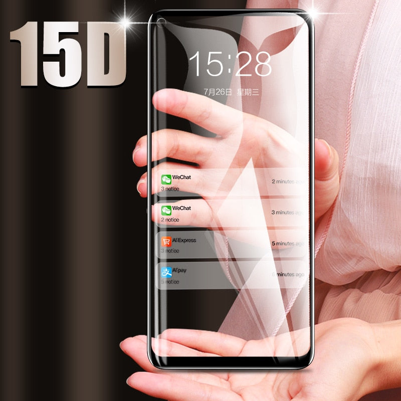 ZNP 15D Tempered Glass For Huawei P30 P20 P10 Lite Screen Protector Film For Honor 9 lite 10 Huawei P30 P20 Pro Protective Glass - winningway