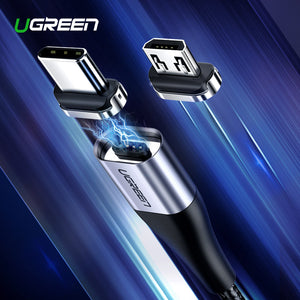 Ugreen Magnetic USB Cable Fast Charging USB Type C Cable Magnet Charger Data Charge Micro USB Cable Mobile Phone Cable USB Cord - winningway