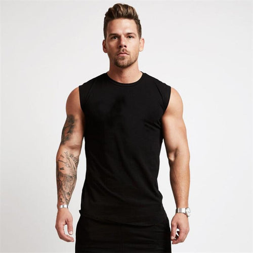 2019 Gyms Workout Sleeveless Shirt Tank Top Men Bodybuilding Clothing Fitness Mens Sportwear Vests Muscle Men Tank Tops - winningway