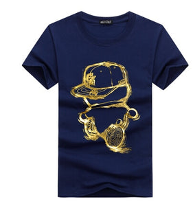 summer t shirt men o-neck cotton comfortable t-shirt Casual homme Short sleeve Printing - winningway