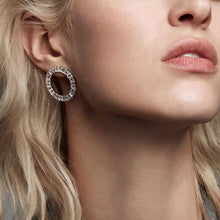 Load image into Gallery viewer, Earrings Antella Circolo Grande with white zirconia