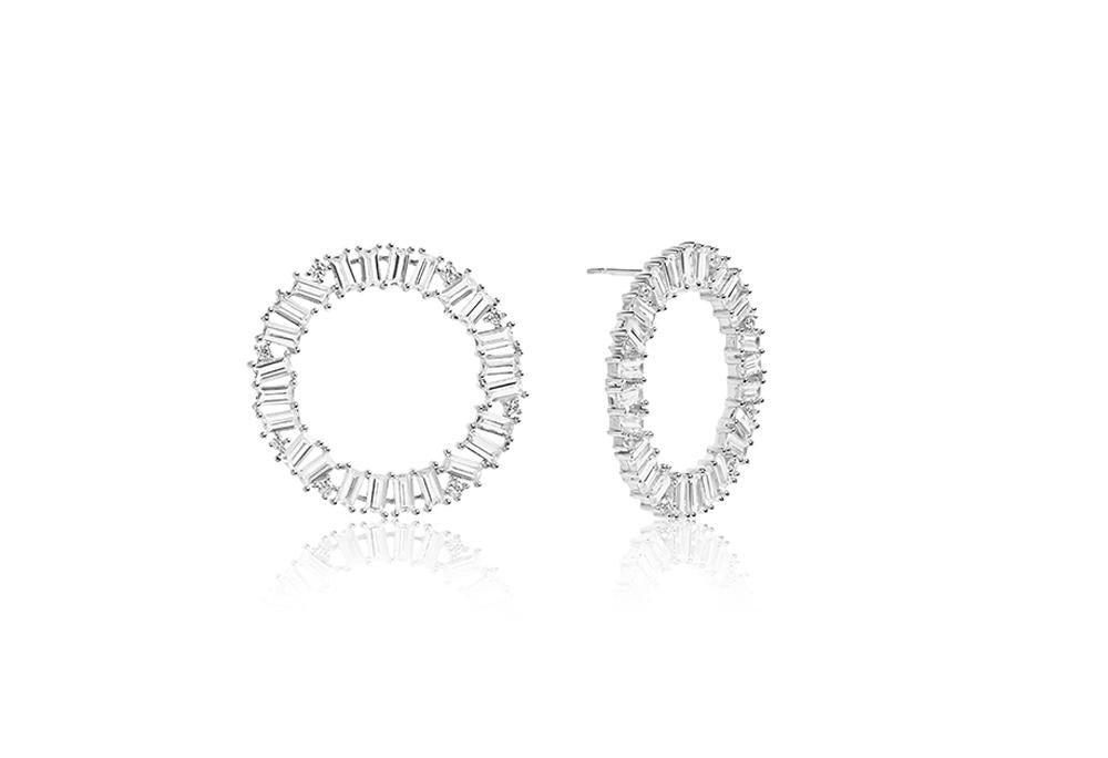Earrings Antella Circolo Grande with white zirconia