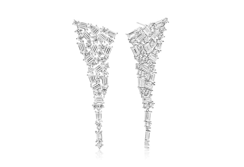 Earrings Antella Grande with white zirconia