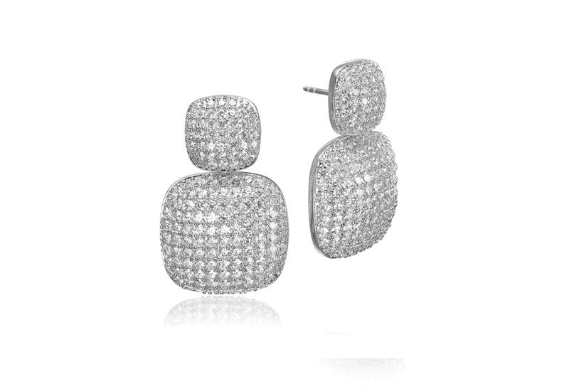 Earrings Lecce lungo with white zirconia