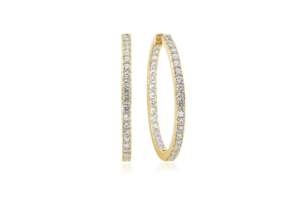 Earrings Bovalino - 18k gold plated with white zirconia