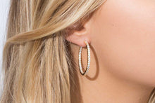 Load image into Gallery viewer, Earrings Bovalino - 18k gold plated with white zirconia