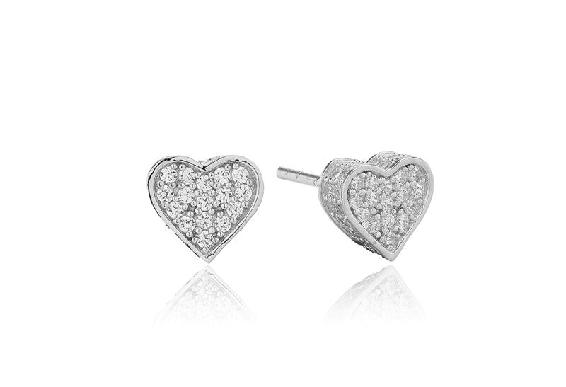 Earrings Amore with white zirconia