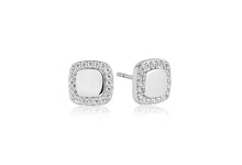 Load image into Gallery viewer, Earrings Follina Quadrato with white zirconia