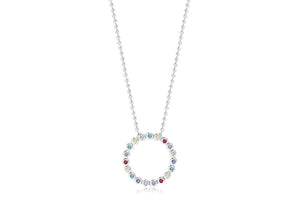 Pendant Sardinien Circolo with multicoloured zirconia