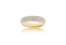 Load image into Gallery viewer, Ring Melazzo - 18k gold plated with white zirconia
