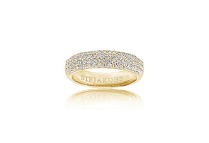 Ring Melazzo - 18k gold plated with white zirconia