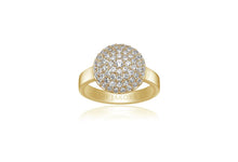 Load image into Gallery viewer, Ring Milan Piccolo - 18k gold plated with white zirconia