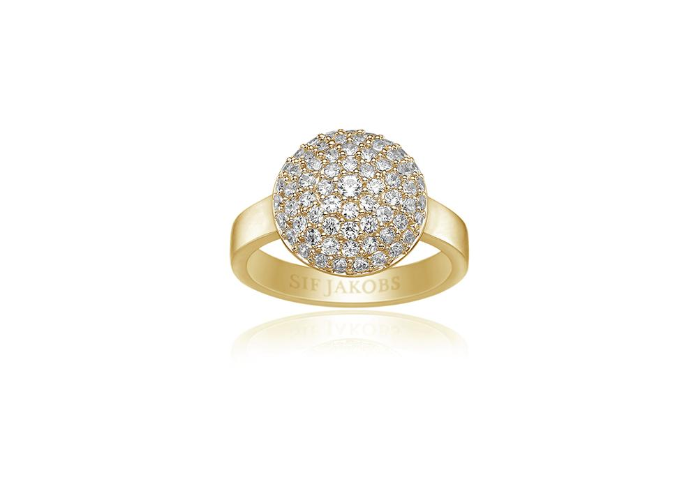Ring Milan Piccolo - 18k gold plated with white zirconia