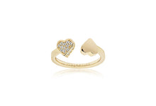 Load image into Gallery viewer, Ring Amore - 18k gold plated with white zirconia