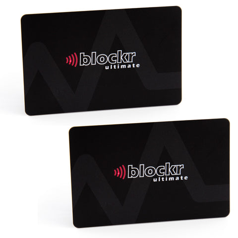 Blockr Ultimate contactless card protector twin pack